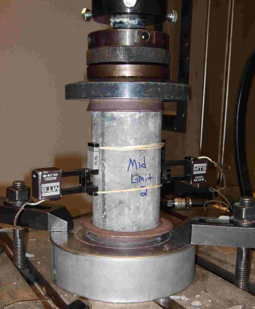 compressive strength test on cement