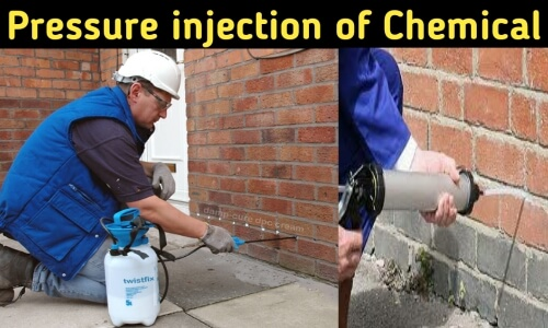 pressure injection of chemical to repair dampness