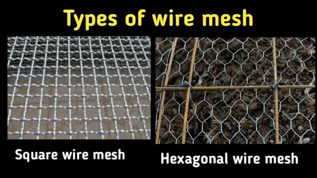 types of wire mesh