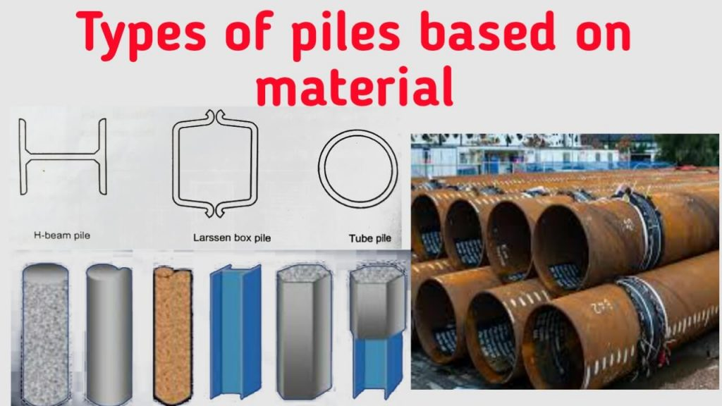 types of pile foundation based on material