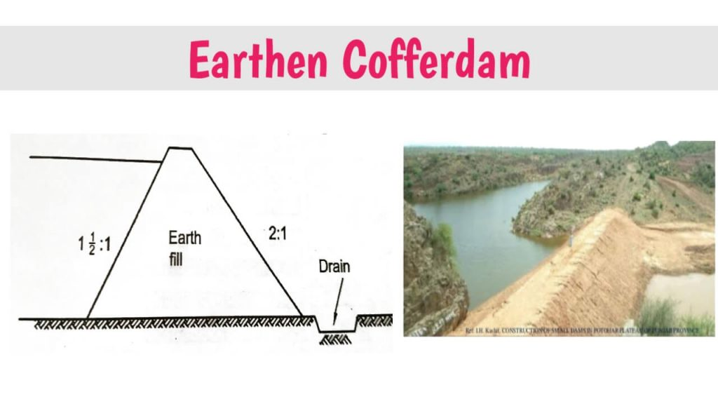 earthen cofferdam images