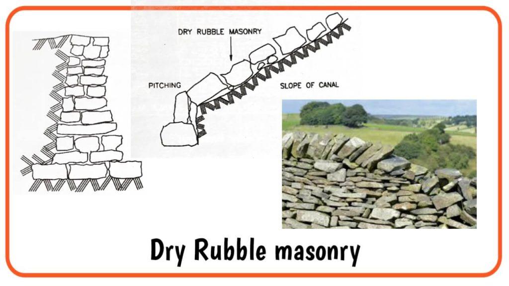 dry rubble masonry