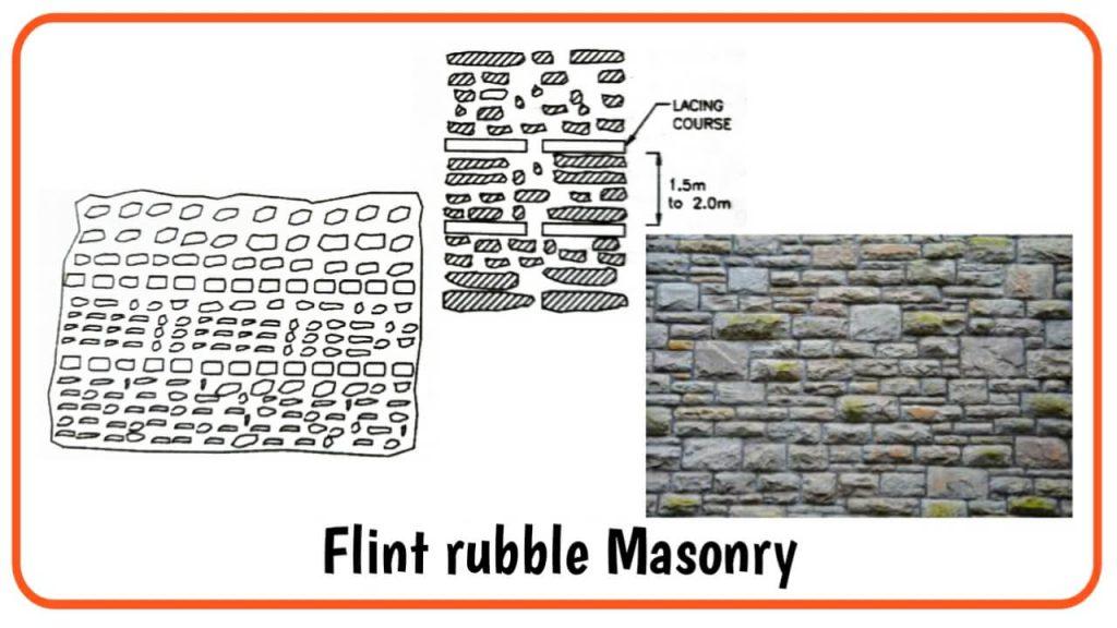 flint rubble masonry