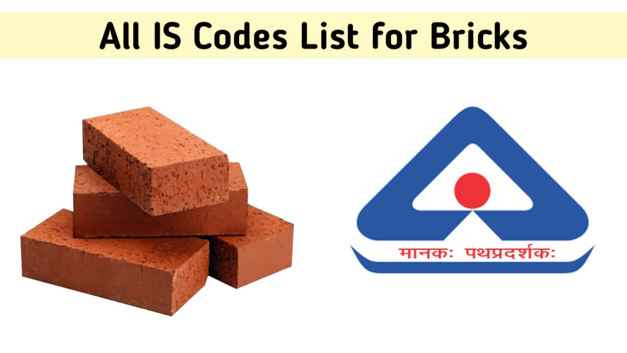 list of is codes for bricks