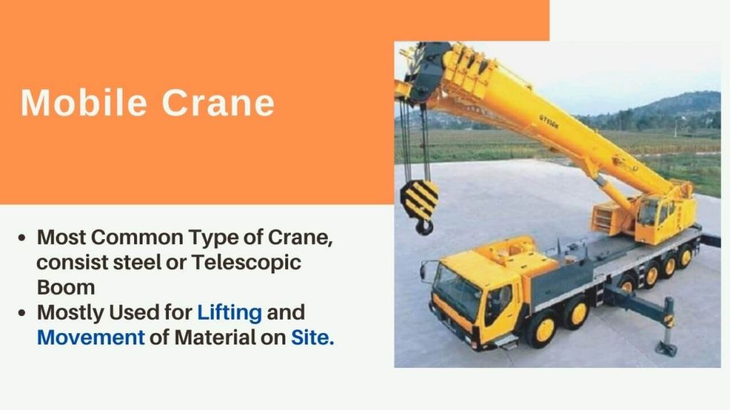 mobile crane used in construction