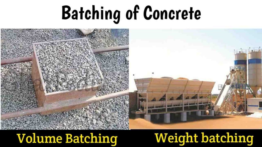 batching of concrete ingredients