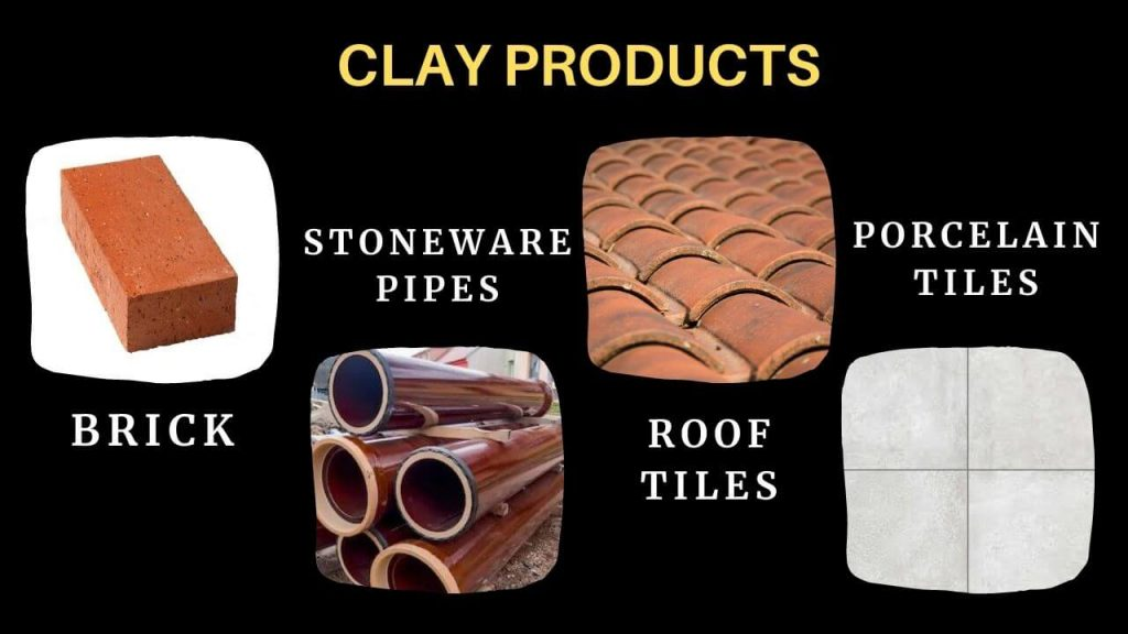 clay products as a types of building materials