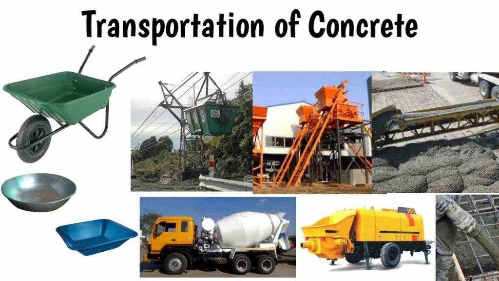 transportation of concrete