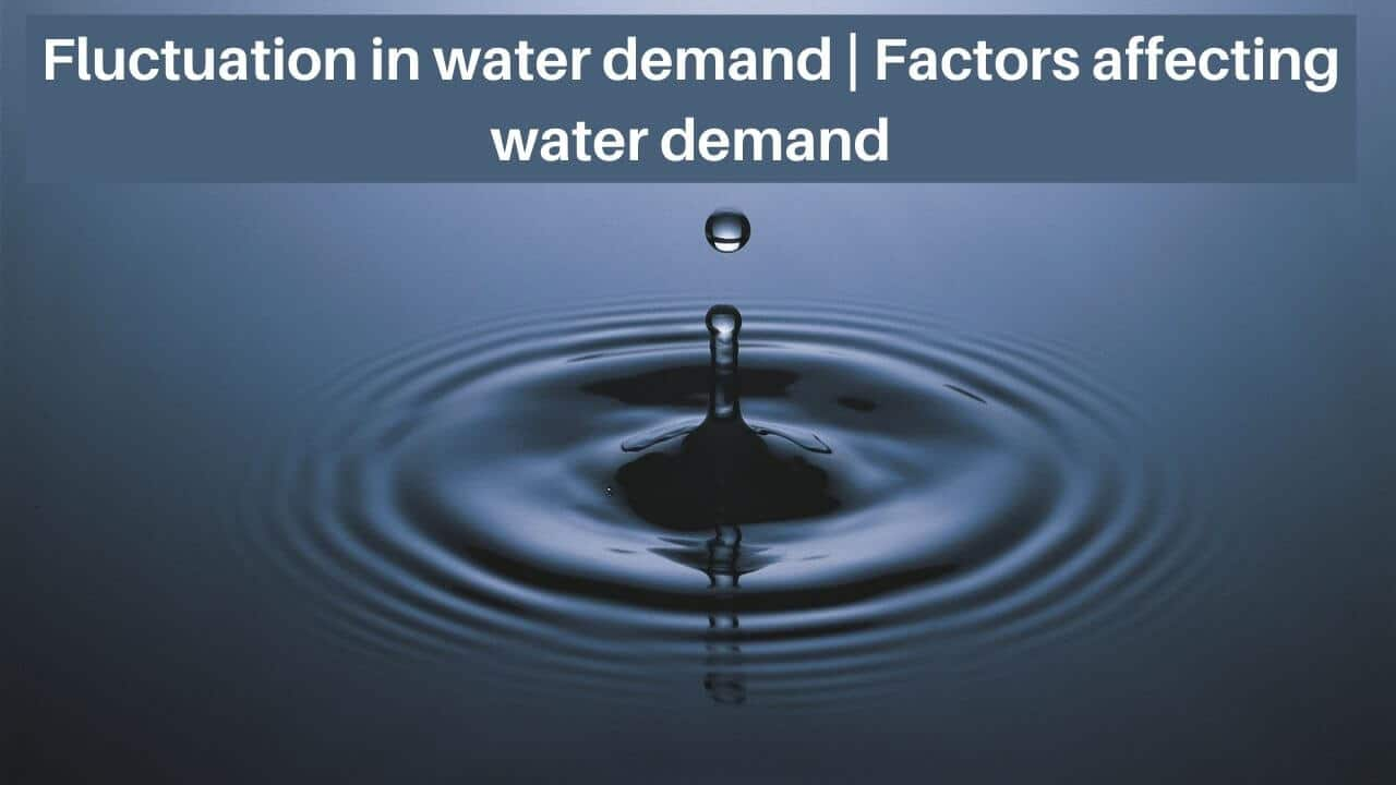 fluctuation in water demand