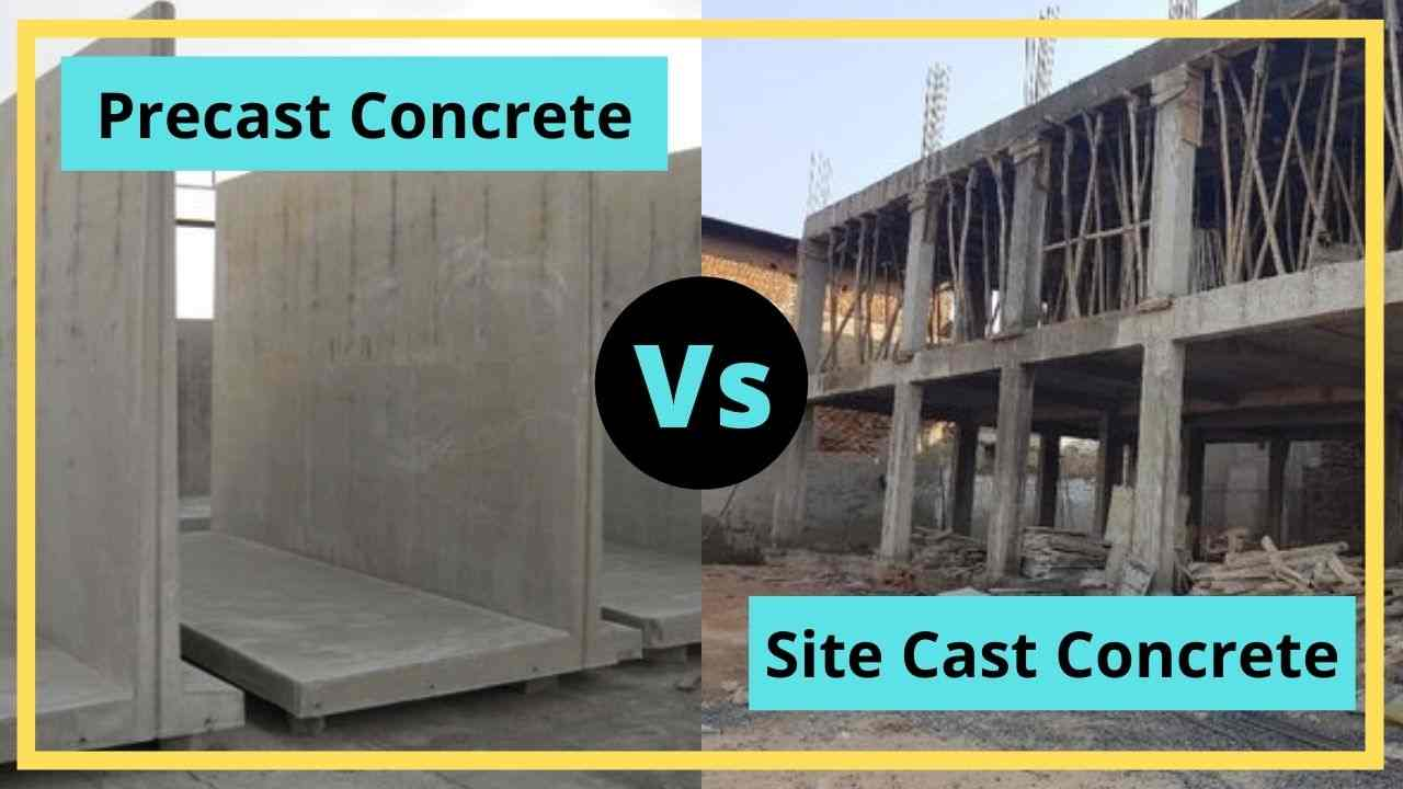 precast concrete vs site cast concrete