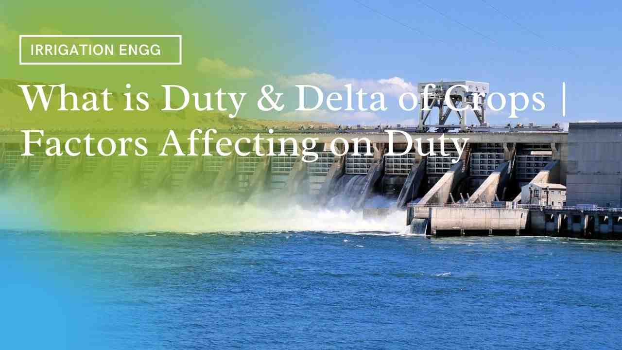 what is duty and delta in irrigation