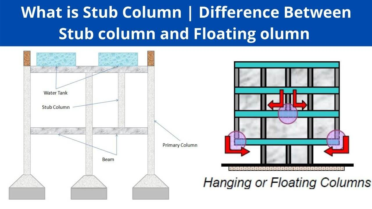 difference between stub column and floating column