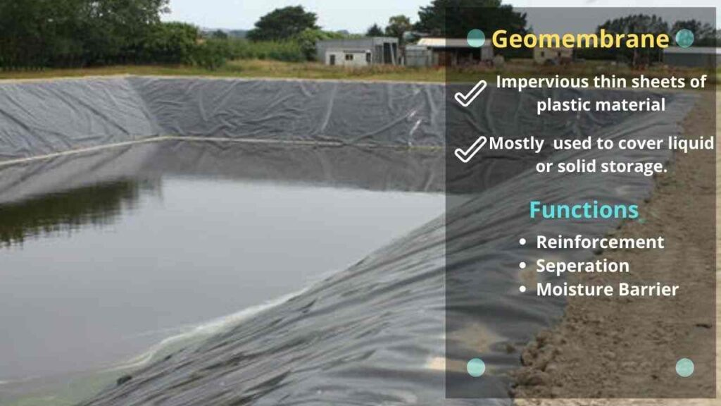geomembrane, function of geomembrane