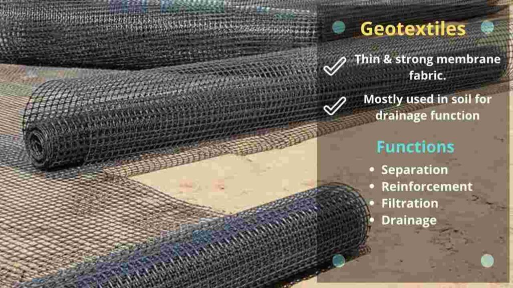geotextiles, function of geotextiles
